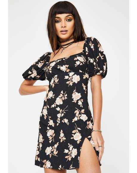 Floral Mafie Mini Dress