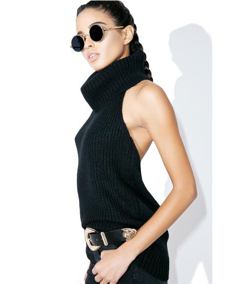 Yer The Boss Sleeveless Turtleneck