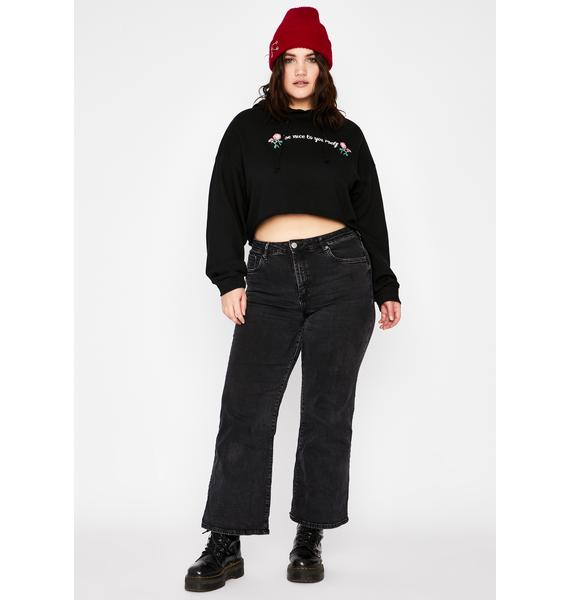 BB Love Yourself First Cropped Hoodie