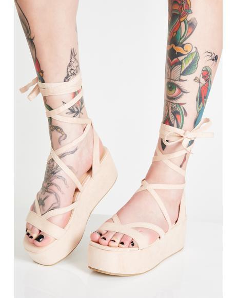 Sand Sun Goddess Platform Sandals