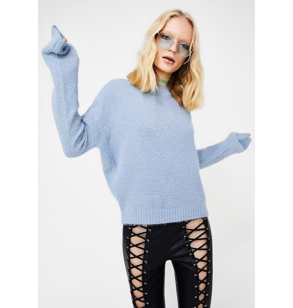 In The Clouds Lace-Up Sweater