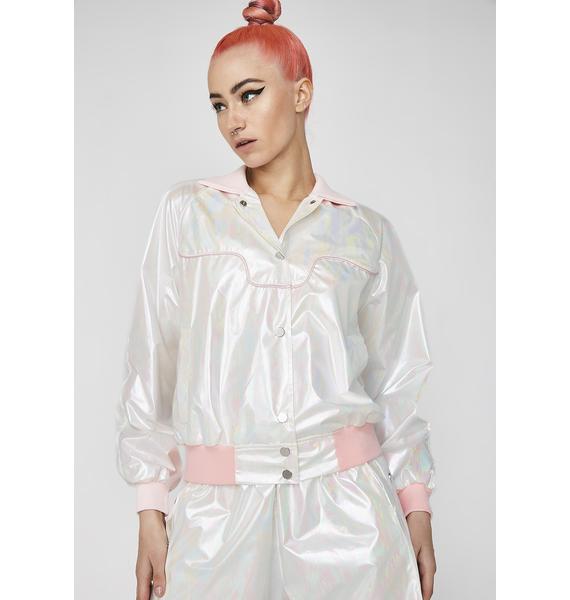 Club Exx x Spirit Sisters Iridescent Track Jacket
