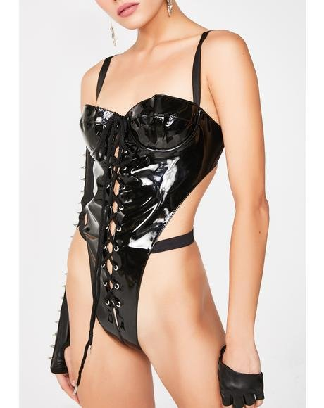 Break The Internet Vinyl Bodysuit