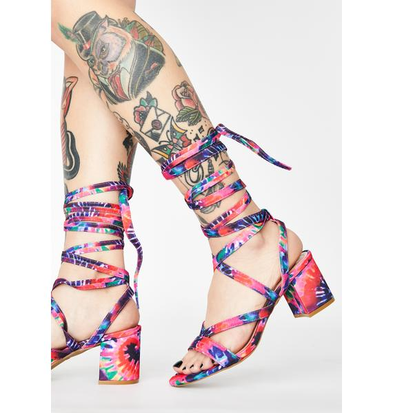Baby Just A Preview Wrap Heels
