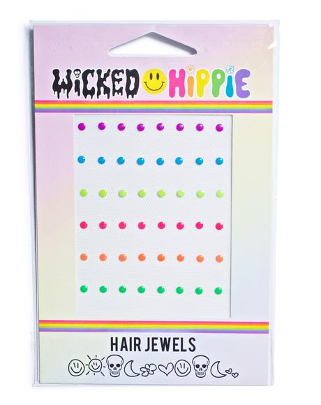Neon Nailhead Hair Jewelz
