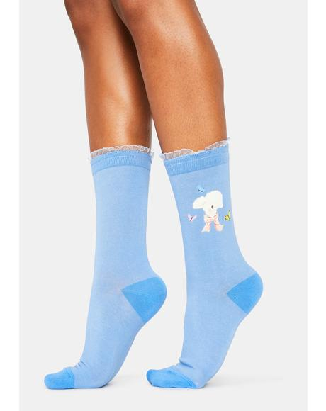 My Soft Spot Lamb Crew Socks