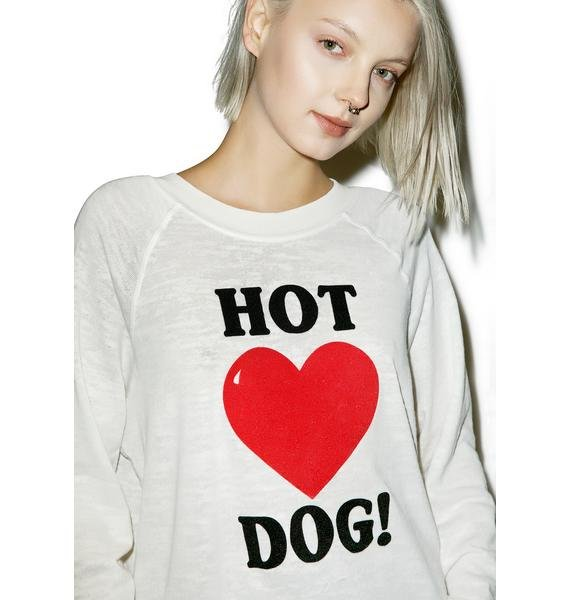 Wildfox Couture Hot Dog Love Kim's Sweater