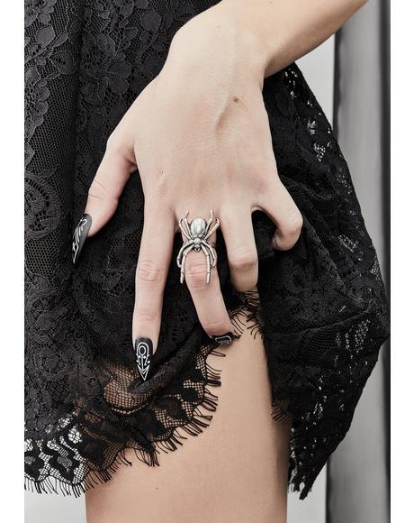 Web Of Sins Spider Ring