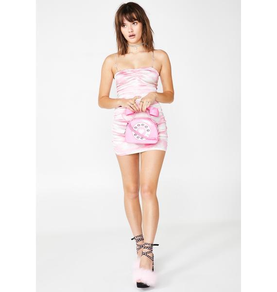 Sugar Thrillz Bliss Vision Satin Ruched Dress