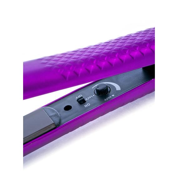 Eva NYC Metallic Purple Ceramic Styling Iron
