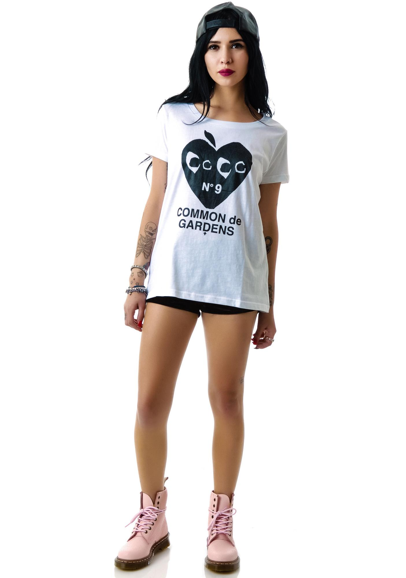 Hollywood Made Miss Apple Wide Neck Tee