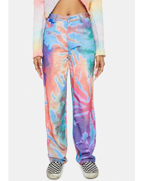 Not Even Sorry Tie Dye Jeans