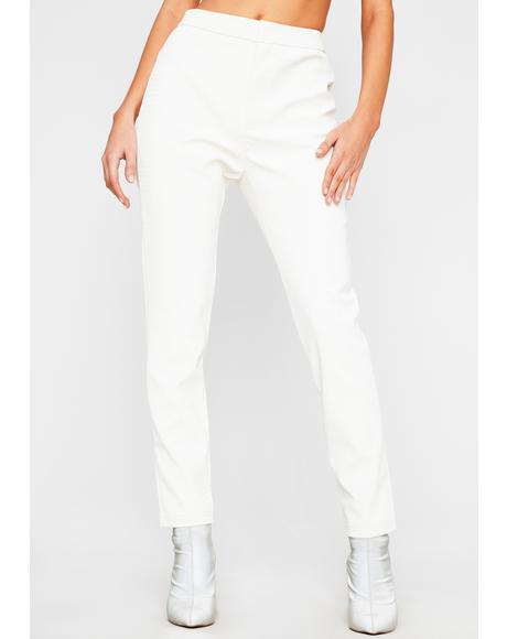 Blanc Dare To Destruct High Waist Pants