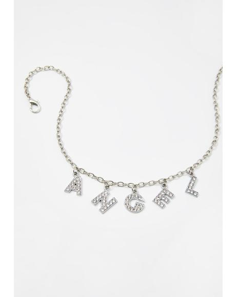 Your Personal Angel Rhinestone Choker