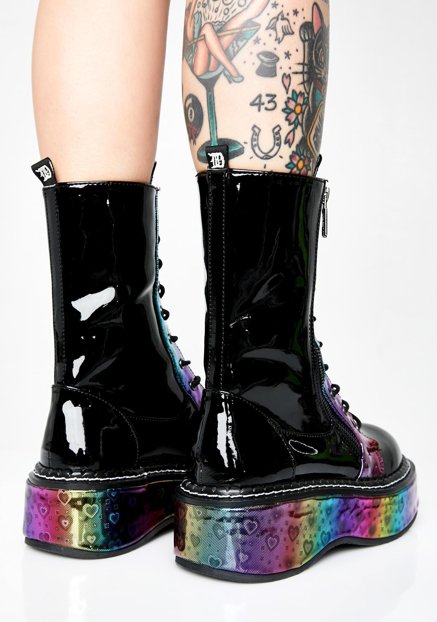Demonia Night Electric Fusion Platform Boots