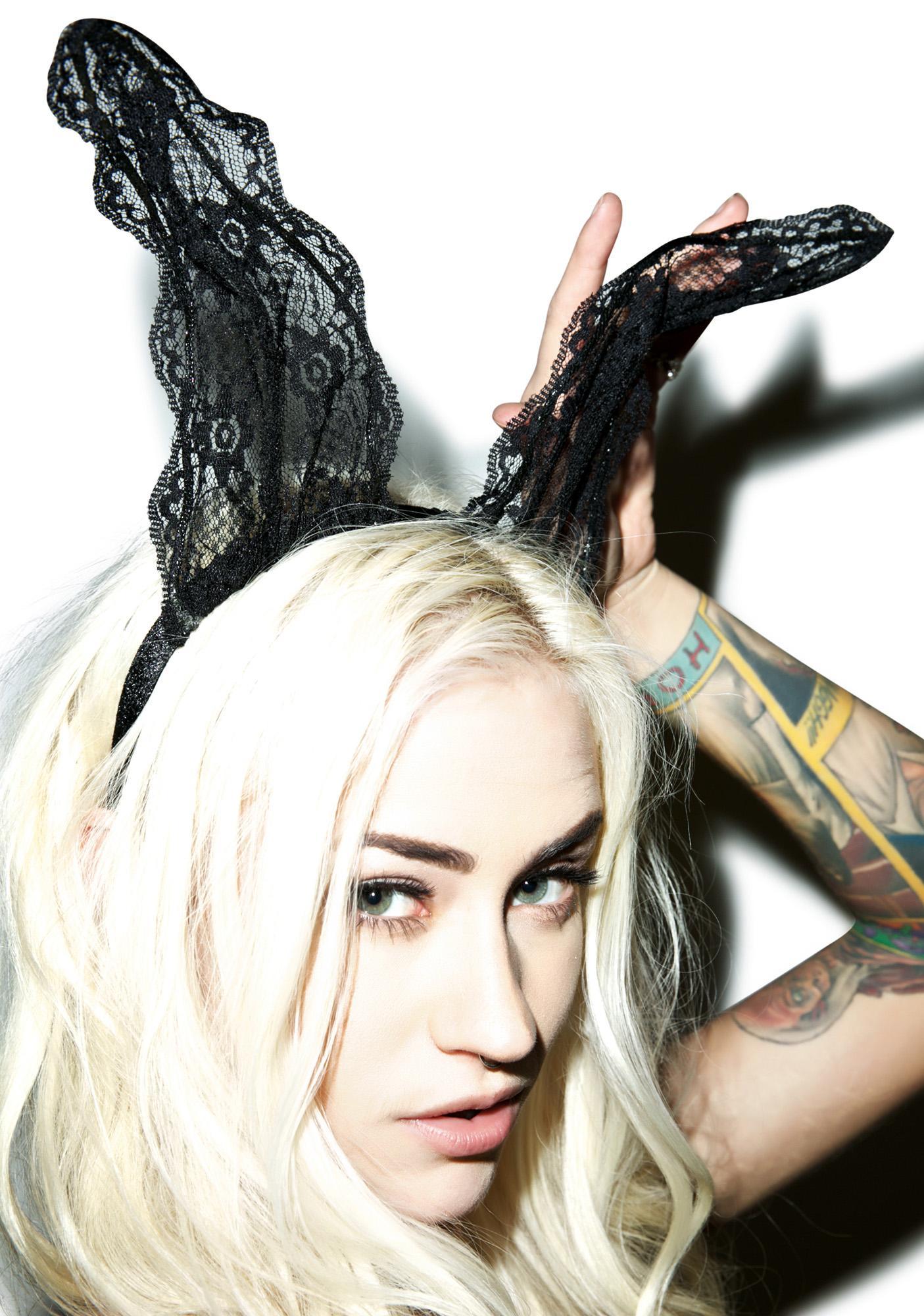 Play Girl Lace Bunny Ears