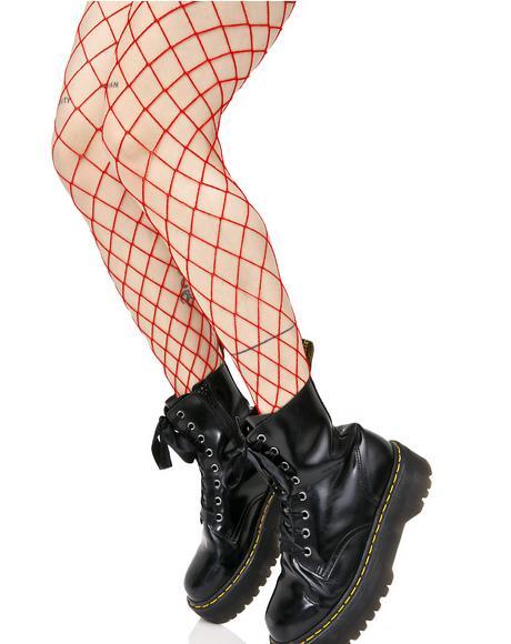 Fire Diamond Doll Fishnet Stockings