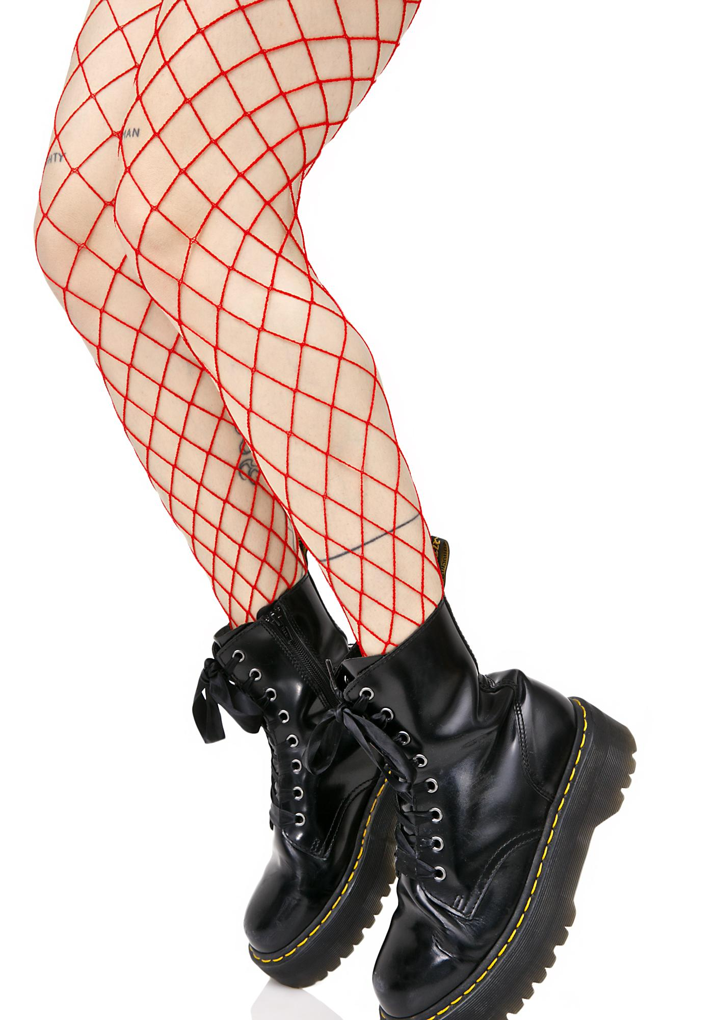 Fire Diamond Doll Fishnet Stockings