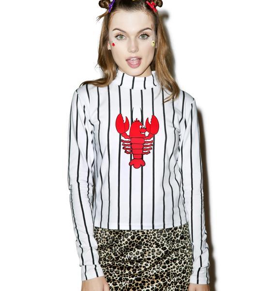 Lazy Oaf Lobster Long Sleeve T-Shirt