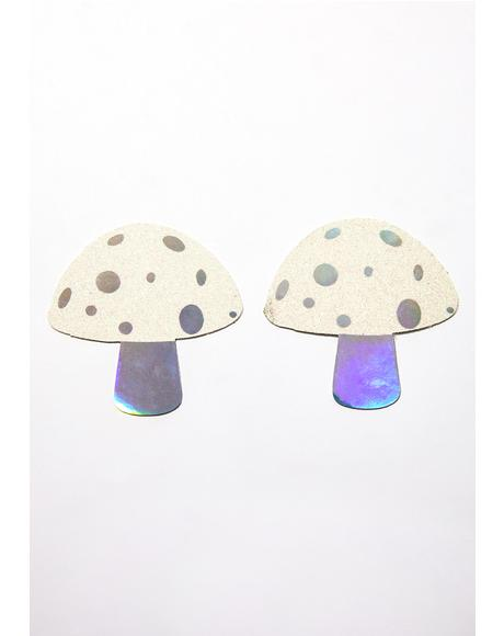 Holographic Glitter Shroom Pasties
