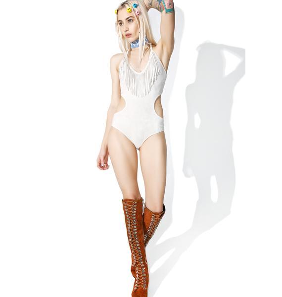 Earthly Delights Fringe Bodysuit