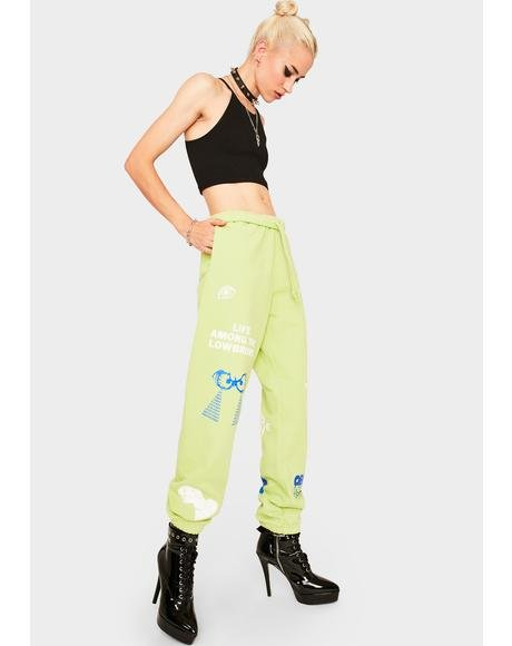 Green Chosen All Eyez Sweatpants