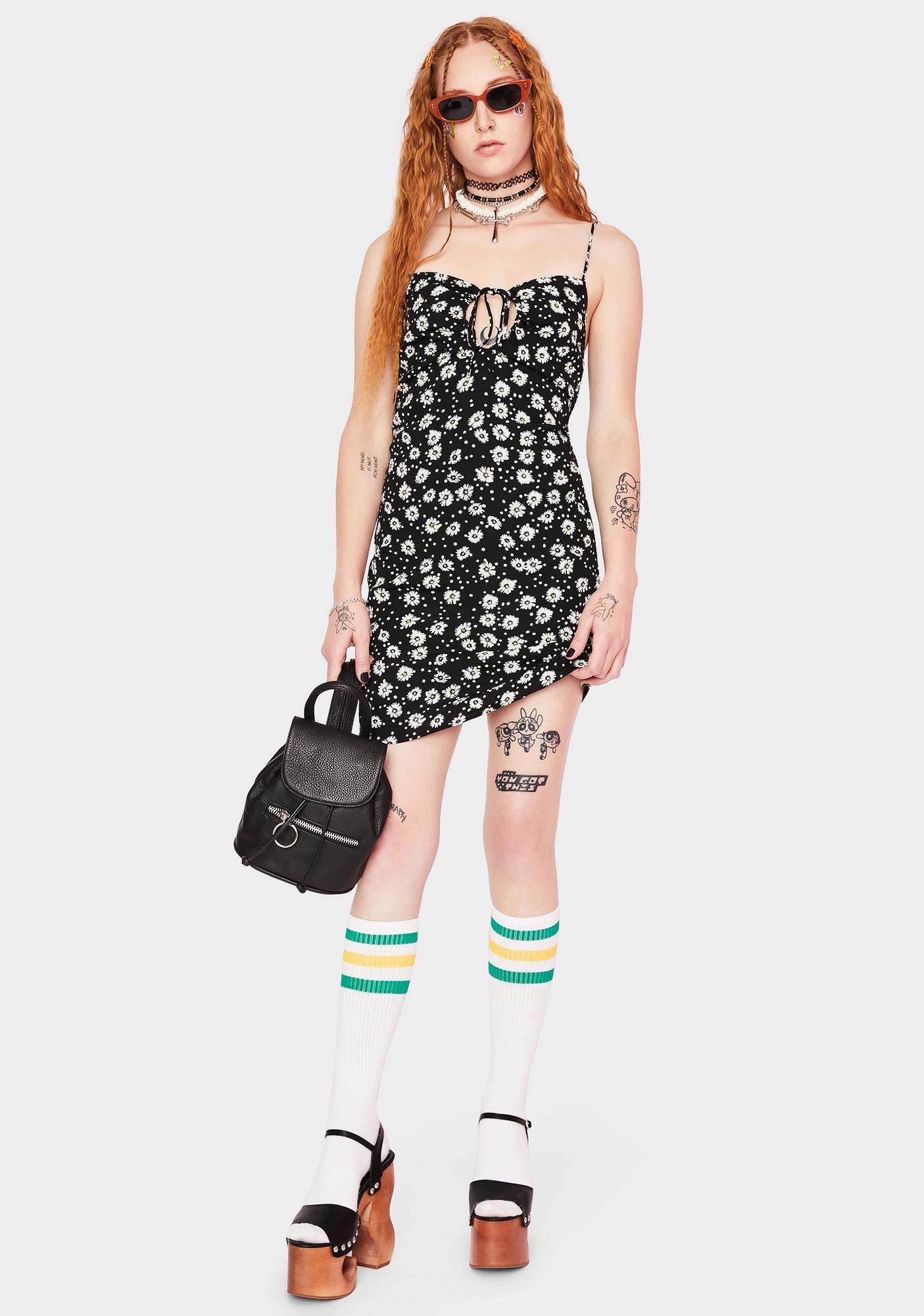 Night Blushing Daisies Mini Dress