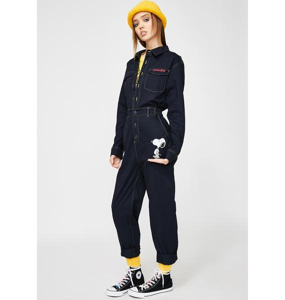 Lazy Oaf x Peanuts Denim Boiler Suit