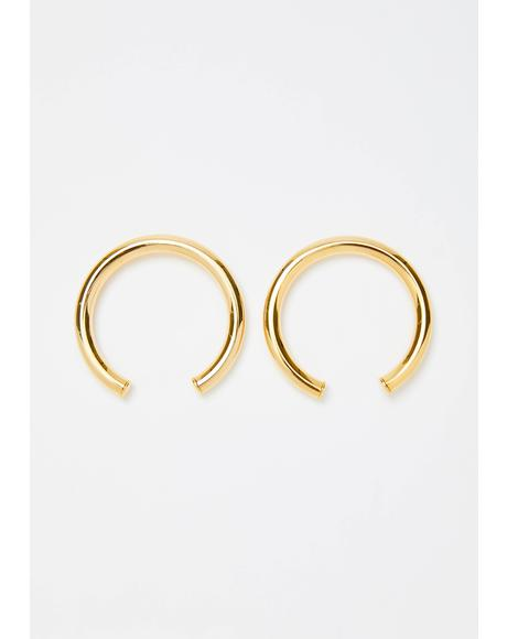 Golden Chic Charm Crescent Earrings