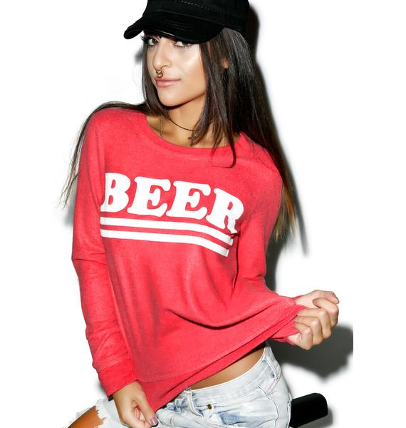 Chaser Beer Crew Neck Sweater