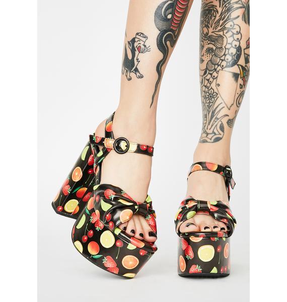 Sugar Thrillz Fresh Squeezed Platform Heels