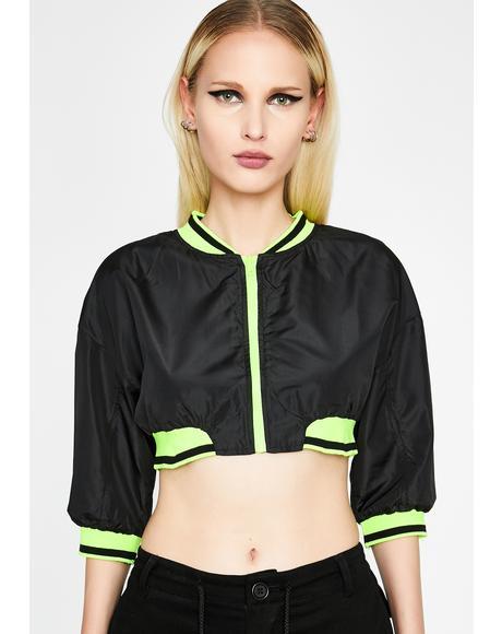 Shut Up N' Drive Cropped Jacket