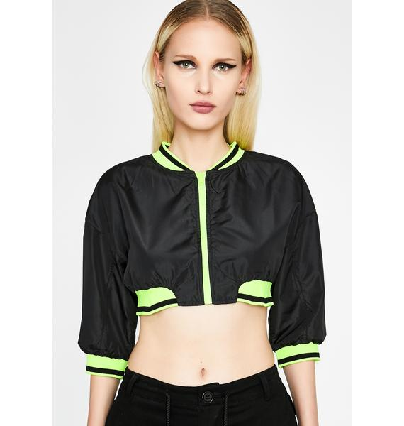 Shut Up N' Drive Cropped Jacket