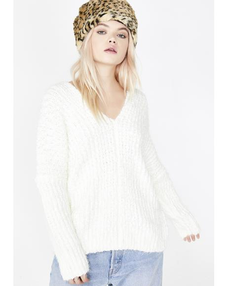 Snow Angel Knit Sweater