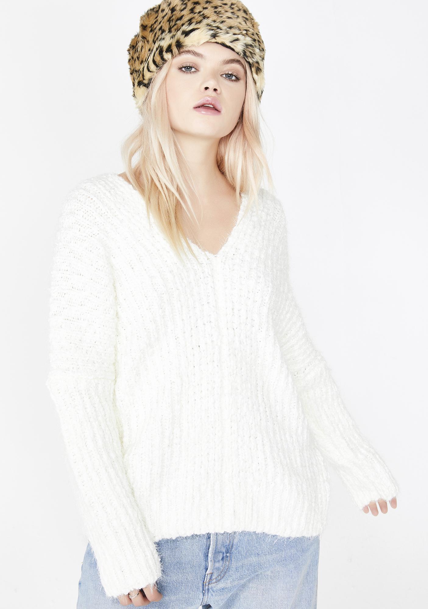 Snow Angel Knit Sweater