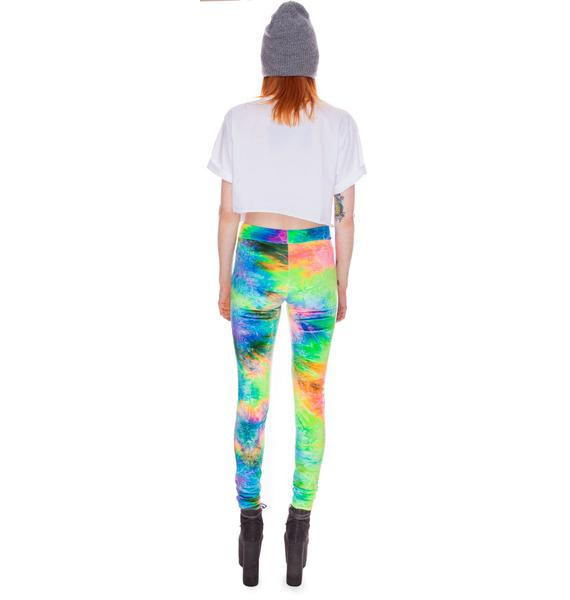 Our Prince of Peace Cosmic Velvet Leggings