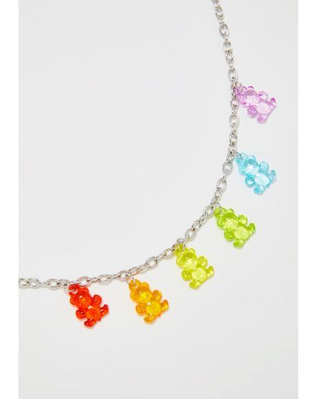 Sweet Fix Gummy Bear Necklace