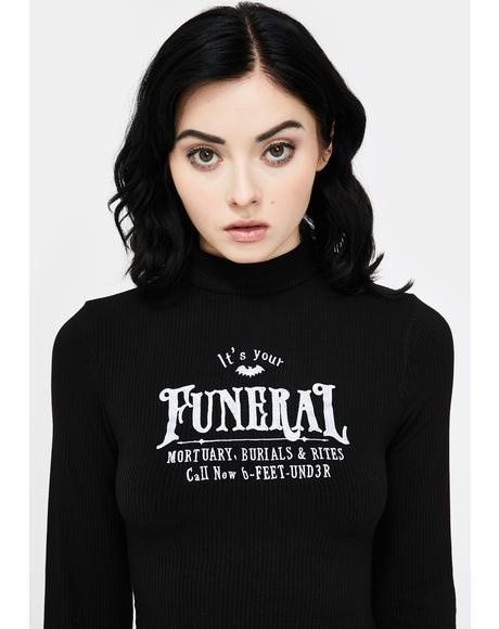 Funeral Long Sleeve Dress