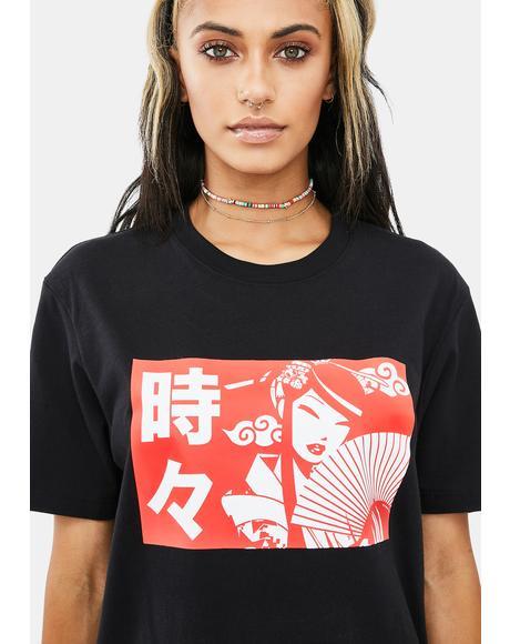 Harajuku Fan Girl Short Sleeve Graphic Tee