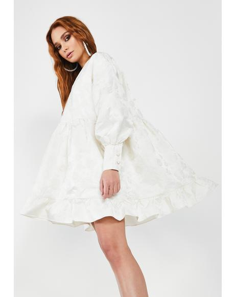 Own The Thrown Jacquard Mini Dress