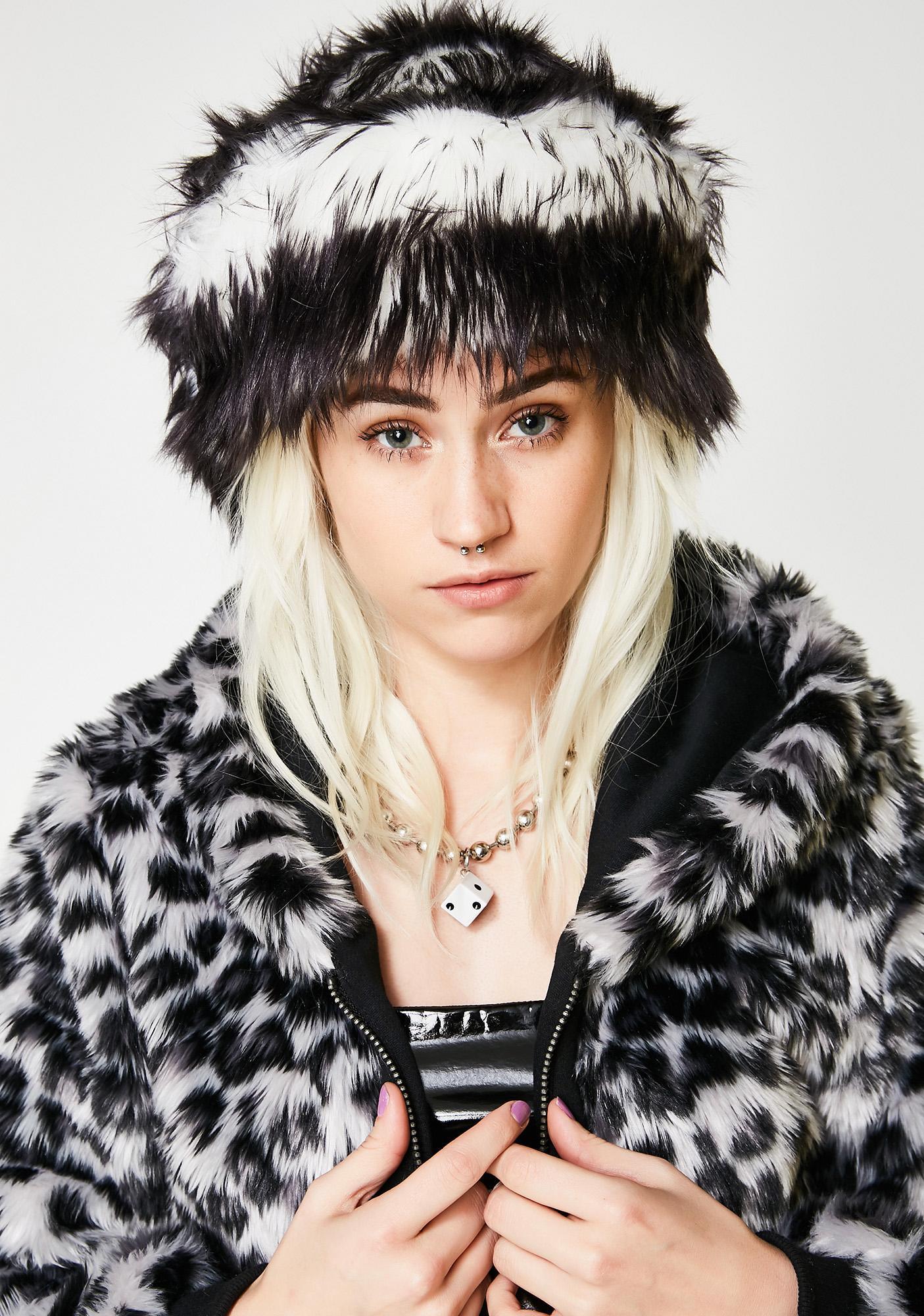 J Valentine Oreo Faux Fur Cap