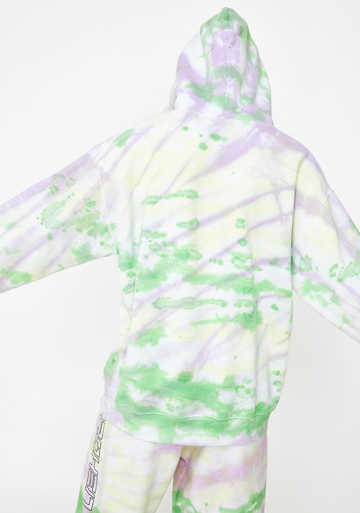 BROKEN PROMISES CO Spaced Out Tie Dye Hoodie