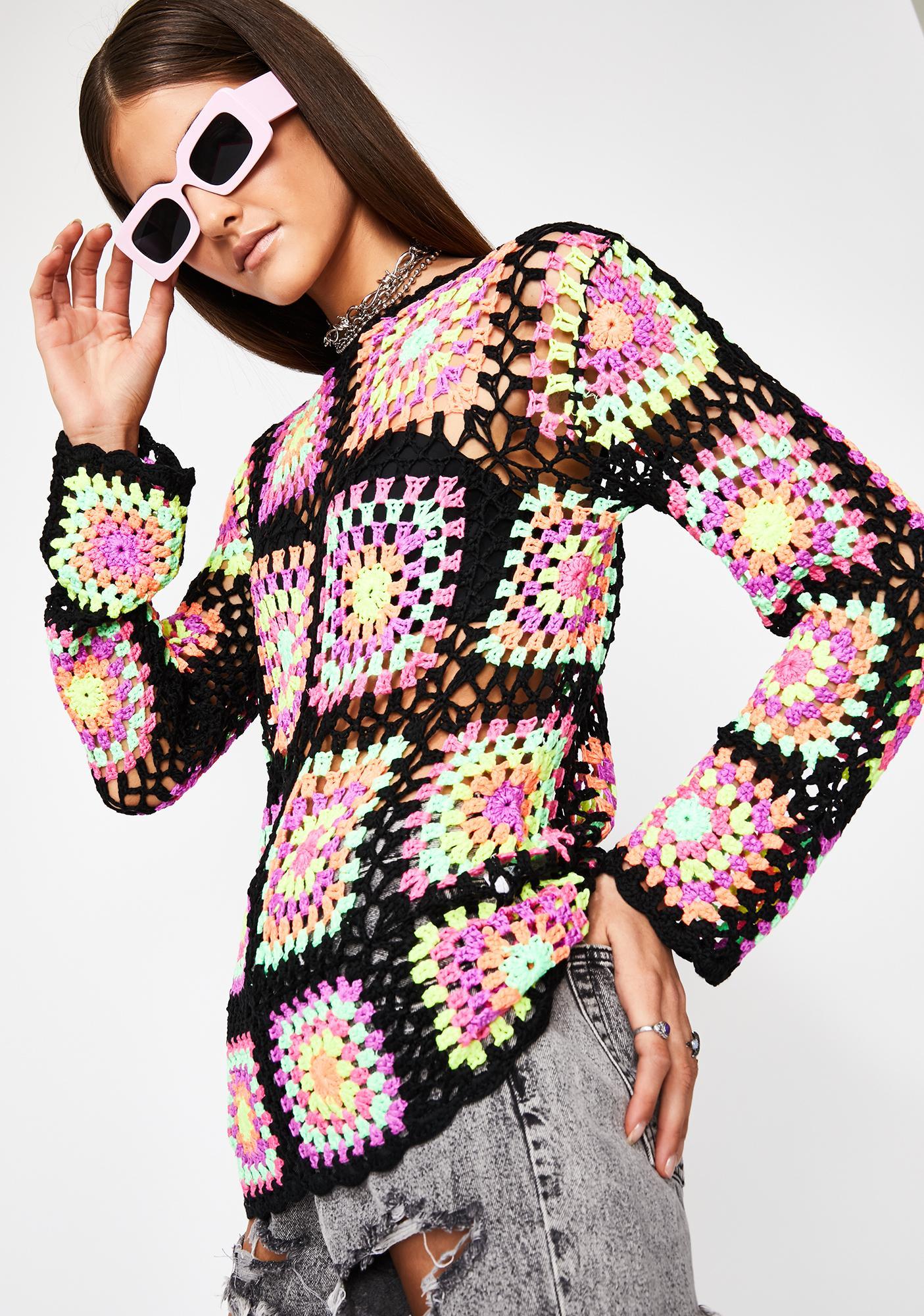 Dazed Dreamer Crochet Sweater