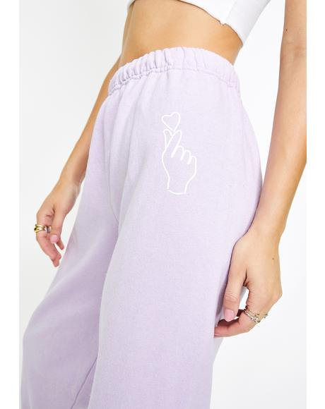 Lavender Pure Angel Sweatpants