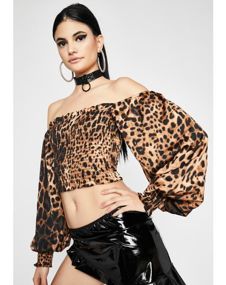 Fierce Fate Leopard Top