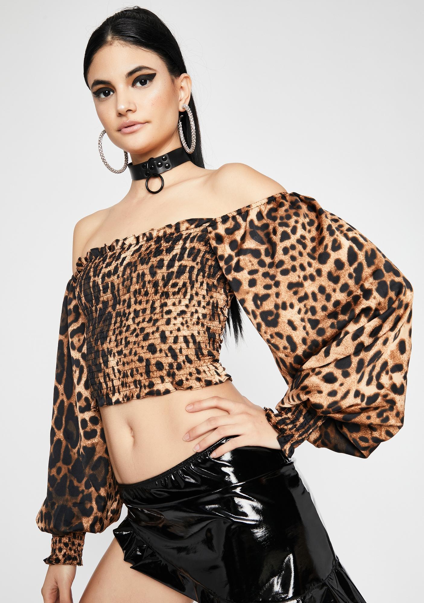 Fierce Fate Leopard Top
