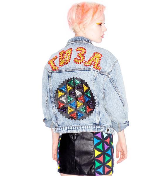 Joyrich x Giza Geometric Denim Jacket