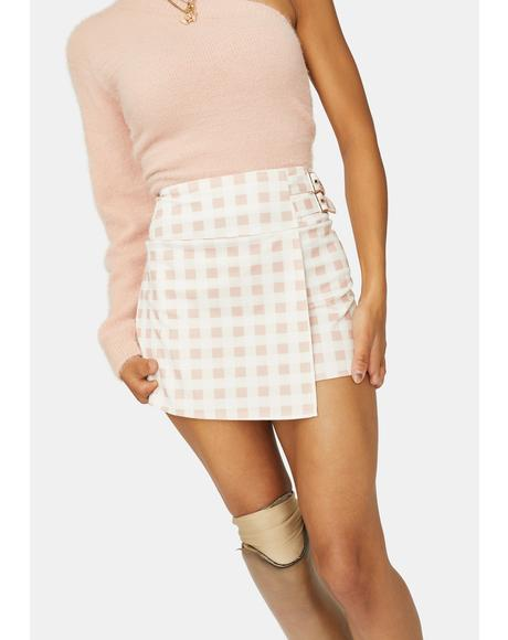 Oh My Darlin' Gingham Buckle Skort