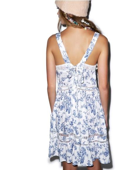 English Toile Pinafore Slip