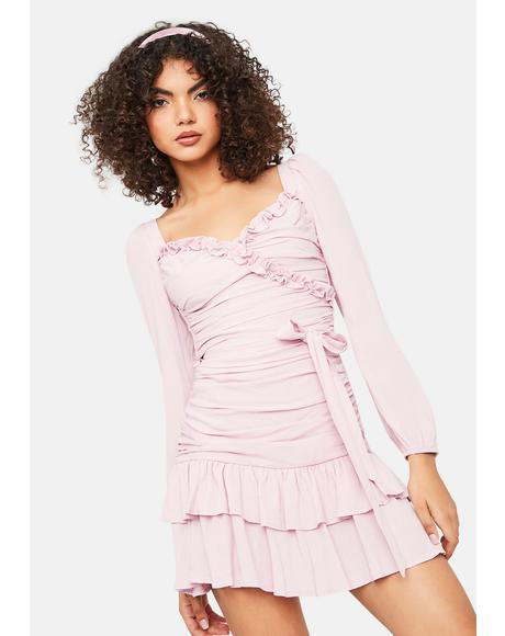 Flirt Teenage Dream Ruched Ruffle Mini Dress